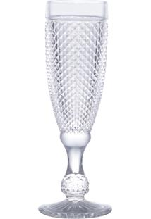 Conjunto 6 Taças De Vidro Para Champanhe Bico De Jaca 185Ml – Linha Transparente