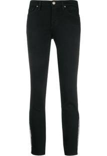 7 For All Mankind Calça Jeans Slim Pyper Com Franja - Preto