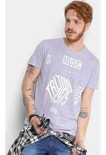 Camiseta Triton Music Mescla Masculina - Masculino-Mescla