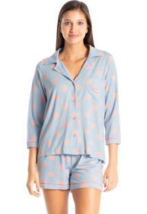 Pijama Zen Dots Curto Abotoado
