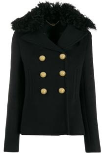 Paco Rabanne Combined Shearling Jacket - Preto