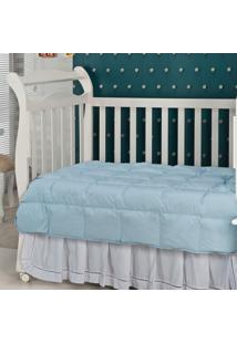 Edredom Em Fibra Baby 233 Fios 140 X 100 Azul Plumasul