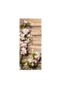 Adesivo Decorativo De Porta - Flores - 2218Cnpt