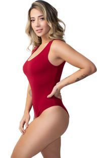 Body Feminino Vicbela Cavado Canelado