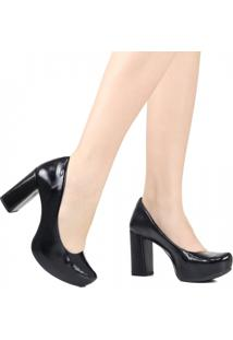 Sapato Scarpin Dakota Salto Grosso Preto
