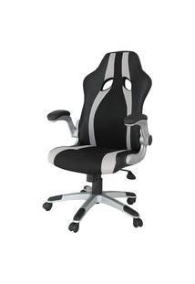 Cadeira Office Speed Preta E Prata - 34461 Preto E Prata
