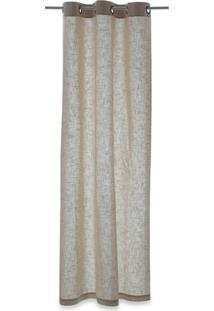 Cortina Em Algodão Linen Cinza Claro 240X150Cm