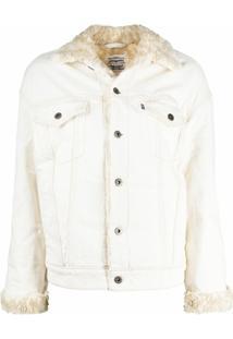 Levi'S: Made & Crafted Jaqueta Com Gola Contrastante A Abotoamento - Branco