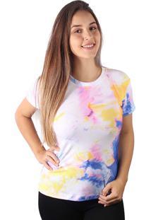 Camiseta Baby Look Marmorizado Tie Dye Md24