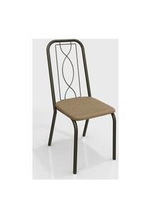 Cadeira Viena Bronze/Cappuccino (Par) Kappesberg
