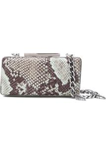 Just Cavalli Clutch Com Estampa Pele De Cobra - Azul