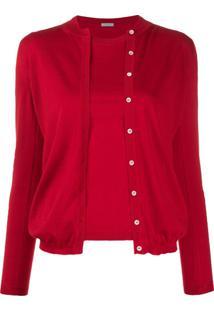 Malo Conjunto Com Blusa E Suéter De Tricô - Vermelho