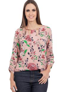 Blusa Love Poetry Estampada Rosa