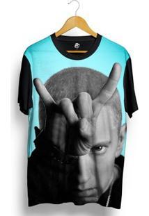 Camiseta Bsc Eminem Full Print - Masculino-Preto