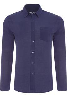 Camisa Masculina Easy - Azul Marinho