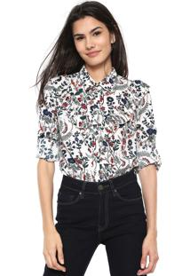Camisa Lily Fashion Estampada Off-White