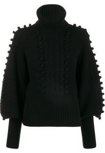 Temperley London Chrissie Bobble Detail Sweater - Preto