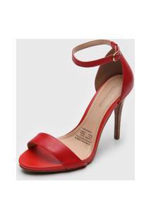 Sandália Bottero Salto Fino Vermelha