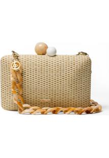 Clutch Le Lis Blanc Leticia Natural Off White Feminina (Tissu, Un)