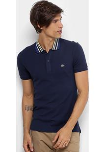 Camisa Polo Lacoste Piquet Listrada Masculina - Masculino