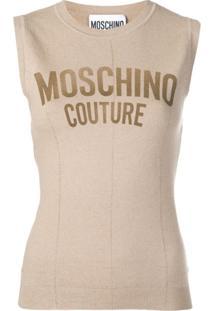 Moschino Blusa De Tricô - Neutro