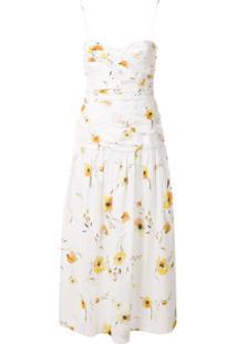 Bec + Bridge Vestido Midi Colette Com Estampa Floral - Branco