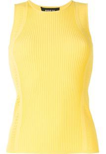 Paule Ka Regata Com Perfurações - Amarelo