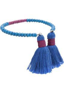 Bracelete Tassel Dime Bee Bee Jou - Azul
