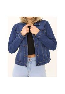 Jaqueta Jeans Média Azul Escuro Lady Rock