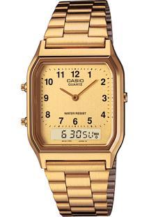 Relógio Casio Aq-230Ga-9Bmq Dourado