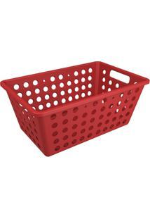 Cesta Organizadora One Grande 28,8X19,1Cm Vermelho Bold