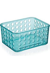 Cesto Organizador 16,5X12,9Cm Azul Tiffany