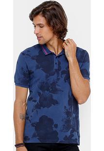 Camisa Polo Calvin Klein Full Print Flowers Masculina - Masculino
