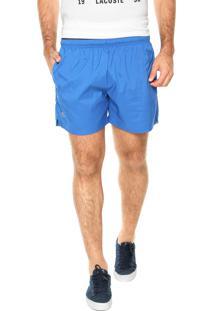 Short Lacoste Liso Azul