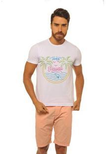 Camiseta Estampada Joss Masculina - Masculino-Branco
