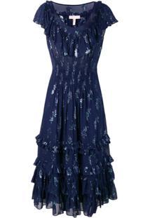 a0ce45028 R$ 7013,00. Farfetch Rebecca Taylor Vestido Metalizado - Azul