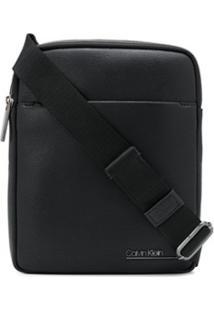 Calvin Klein Bolsa Carteiro Com Logo - Preto