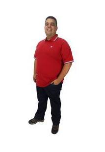 Camisa Masculina Plus Size Polo Elastano Color