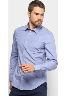 17e4903d5 ... Camisa Calvin Klein Slim Manga Longa Masculina - Masculino