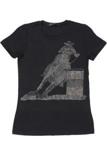 Camiseta Tassa Tambor Feminina - Feminino-Preto