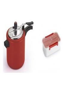 Kit Pote Plástico Para Marmita 780Ml+ Panela De Pressáo 4.5L