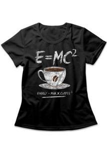 Camiseta Feminina Coffee Energy Formula - Feminino-Preto