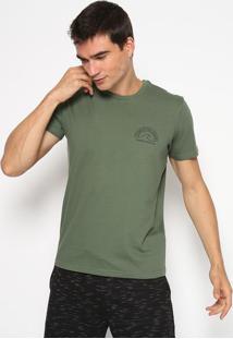 "Camiseta ""Flow In The Ocean""- Verde Militar & Preta-Limits"
