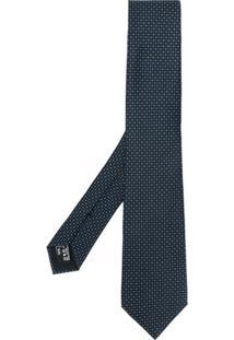Giorgio Armani Gravata De Seda Com Padronagem - Azul
