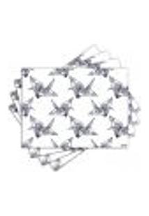 Jogo Americano - Origami Com 4 Peças - 1096Jo