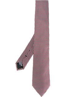 Armani Collezioni Gravata De Seda Com Padronagem - Vermelho