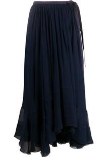 Chloé Saia Assimétrica - Azul