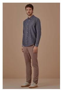 Camisa Ml Jeans Flame Maquinetada
