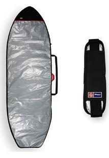 Capa Prancha Stand Up Paddle Sup 9'0 A 9'5 + Alça Transporte Sup Maori Extreme Refletiva Acolchoada Prata