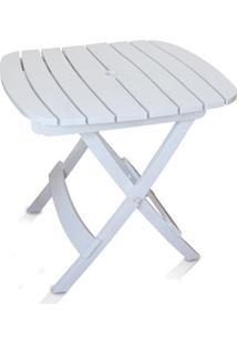 Mesa Plástica Dobrável Ripada Branca - Antares